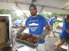 Hard working volunteer - Glenview Greek Fest at Sts. Peter & Paul