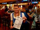 Friendly server at Johnny's Kitchen & Tap Octoberfest in Glenview