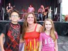 Family enjoying rock band INFINITY - Oak Lawn Greek Fest at St. Nicholas