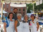 Hard working volunteers with church leader - St. Demetrios Lincoln Square Greekfest, Chicago