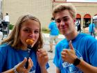 Volunteers taking a break - St. Nectarios Greekfest, Palatine
