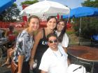 Hard working volunteers with guests - St. Sophia Greekfest, Elgin