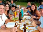 Happy participants - American English show at St. Demetrios Taste of Greece Festival