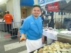 Friendly vendor, Santorini Restaurant Booth, Taste of Greektown Chicago