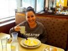 Loyal customer enjoying breakfast at Annie's Pancake House in Skokie