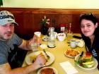 Couple enjoying breakfast at Annie's Pancake House in Skokie
