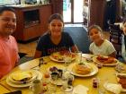 Family enjoying lunch at Annie's Pancake House in Skokie