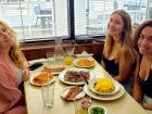Friends enjoying breakfast at Annie's Pancake House in Skokie