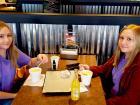 Sisters enjoying lunch at Billy Boy's Restaurant in Chicago Ridge