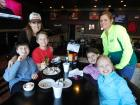 Family enjoying lunch at Draft Picks Sports Bar in Naperville