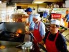 Hard working kitchen crew at Nick's Drive In Restaurant Chicago
