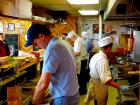 Hard working kitchen crew at Nick's Drive In Restaurant Chicago