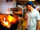 Hard working kitchen staff at Nick's Drive In Restaurant Chicago