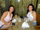 Enjoying the outdoor patio at Papagalino Cafe & Pastry Shop in Niles