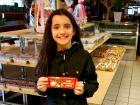 Young bakery customer at Papagalino Cafe & Pastry Shop in Niles