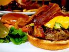 The bacon avocado burger at Rose Garden Cafe in Elk Grove Village