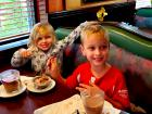 Kids enjoying sweet treats at Rose Garden Cafe in Elk Grove Village