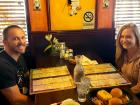 Couple enjoying lunch at Rose Garden Cafe in Elk Grove Village