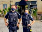Police officers at Rose Garden Cafe in Elk Grove Village