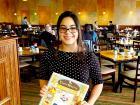 Friendly hostess at Tasty Waffle Restaurant in Romeoville