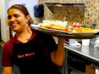 Friendly server at Tasty Waffle Restaurant in Romeoville