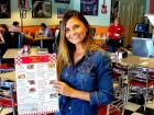 Happy customer at Teddy's Diner in Elk Grove Village