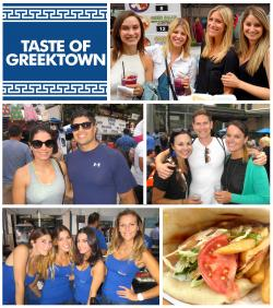 People, fun, and great food at Taste of Greektown in Chicago 2016-2018