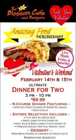 Valentine's Weekend Dinner For 2 at Blossom Cafe - Norridge