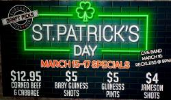 St. Patrick's Day Weekend at Draft Picks Sports Bar - Reckless Live Sat Night - Naperville