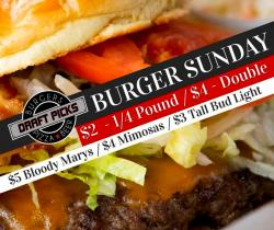 Burger Sunday & Other Food Specials at Draft Picks Sports Bar-Naperville