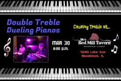 Double Treble - Dueling Pianos - Live at Niko's Red Mill Tavern in Woodstock