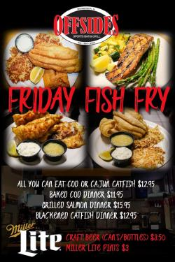 All-You-Can-Eat Friday Fish Fry at Offsides Sports Bar & Grill - Woodstock