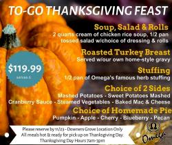 To-Go Thanksgiving Feast at Omega Pancake House - Downers Grove