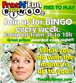 Free N' Fun Bar Bingo at Rookies Pub in Huntley