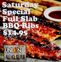 Saturday Special BBQ Ribs at Union Ale House in Prospect Heights