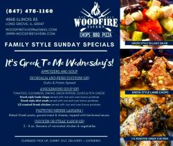 It's Greek To Me Wednesday's at Woodfire Tavern - Long Grove