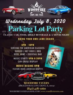 Parking Lot Party & Movie at Woodfire Tavern in Long Grove