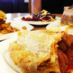 Delicious pies at Around the Clock Restaurant in Crystal Lake