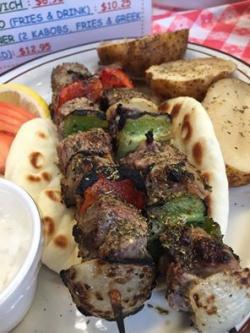 Delicious gyro at Brandy's Gyros in Chicago