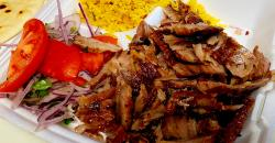 Charcoal Flame Grill in Morton Grove homemade gyros