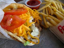 The ground beef taco in a pita at Billy Boy's Restaurant in Chicago Ridge
