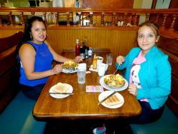 Friends enjoying lunch at Billy's Pancake House in Palatine