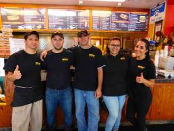 Hard working crew at Brandy's Gyros in Chicago