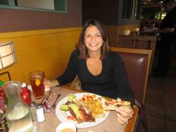 Loyal customer enjoying lunch at Butterfield's Pancake House & Restaurant in Naperville