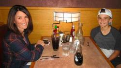 Mom and son enjoying lunch at Butterfield's Pancake House & Restaurant in Naperville