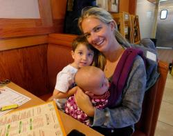 Family enjoying lunch at Butterfield's Pancake House & Restaurant in Northbrook