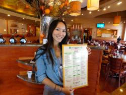 Friendly hostess at Butterfield's Pancake House & Restaurant in Northbrook