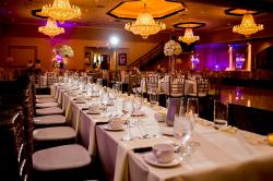 Beautifully prepared ballroom at the Cotillion Banquets in Palatine