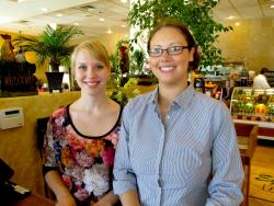 Friendly staff at Egg Haven Pancakes & Cafe in DeKalb