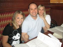 Family ready to order dinner at Jameson's Charhouse in Arlington Heights